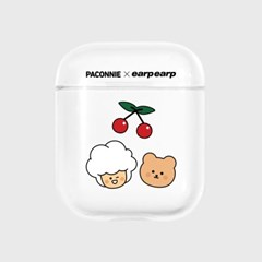 paconnie and covy cherry-clear(Air pods)