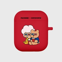 paconnie and covy 3D glass-red(Air pods)