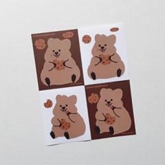 [영이의숲] 쿠키 꽃카 리무버블 스티커