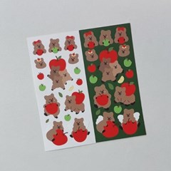 [영이의숲] 사과 꽃카 씰스티커