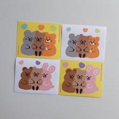 [영이의숲] 프렌즈 꽃카 리무버블 스티커