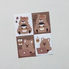 [영이의숲] 카페 꽃카 리무버블 스티커