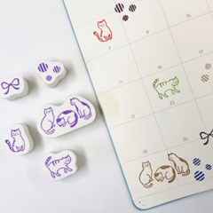 Cat Stamp Set