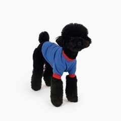 [퍼리굿] 강아지옷 스트라이프 티셔츠 (블루 & 레드)