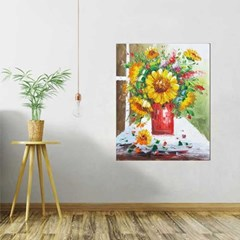 Home gallery CANVAS Oil Painting 레드화병 해바라기