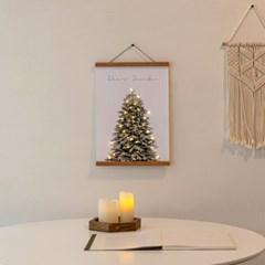 크리스마스 스노우 벽트리 캔버스 포스터