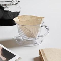 커피 여과지 콘 필터 1-2인 100매_(1746694)