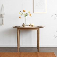 [오크] B형 원형식탁/테이블 : 화이트오크 1000