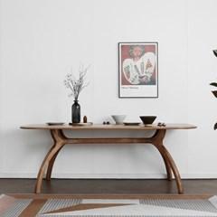 [블랙러버] A형 커브식탁/테이블 1800_(1640144)