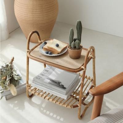 북유럽풍 라탄 거실 사이드 테이블