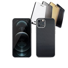 아이폰12 프로 휴대폰 카본스킨 보호필름(샤프블랙)
