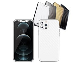 아이폰12 프로 휴대폰 카본스킨 보호필름(엔젤화이트)