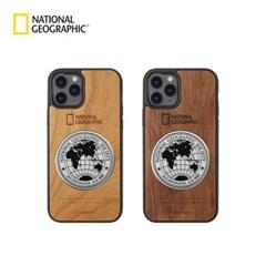 내셔널지오그래픽 아이폰12 프로 외 메탈데코 우드케이스