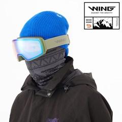 WING X1 남성 성인 스키 보드 미러 안경병용 고글 KHAKI