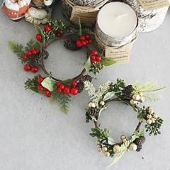 열매 리스 크리스마스 장식 - 2color