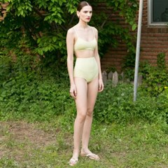 Square Bikini - Lime