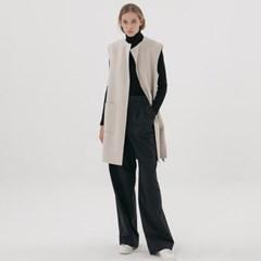 Handmade Revasible Vest - Ivory