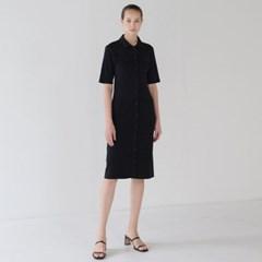 Button Slim dress - Black