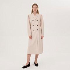 Double-Breasted Jacket Dress - Light Beige
