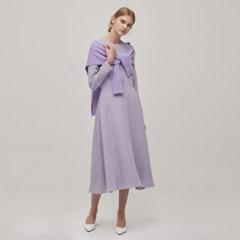 Long Sleeve Flare Dress - Lavender