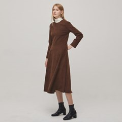 Peached Flare Dress - Brown