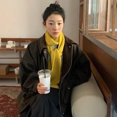 레옹 헤링본플리스울점퍼