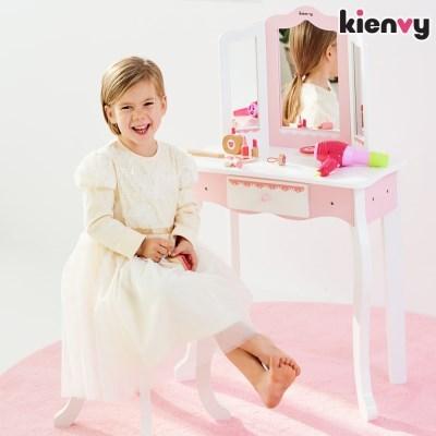 키앤비 원목 화장대 놀이 세트+소품 포함