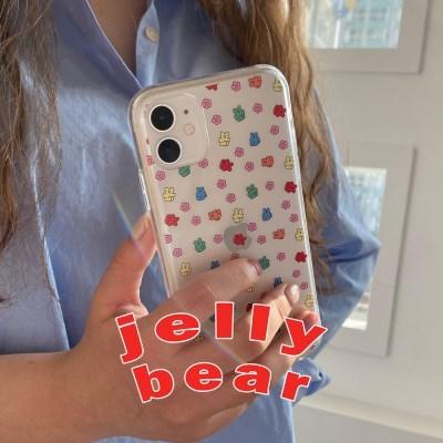 [뮤즈무드] jelly bear (clear) 아이폰케이스