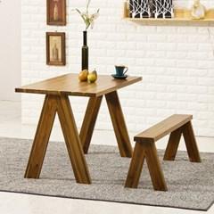 포메리트 아카시아 원목 식탁 테이블 380 + 벤치1개