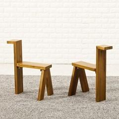 포메리트 아카시아 원목 의자 2개
