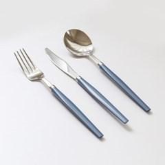 소소모소 컬러 양식 커트러리 세트 - 블루베리 (스푼/포_(504222)