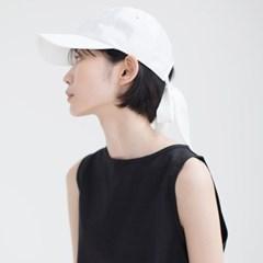 Ribbon Ball Cap - White