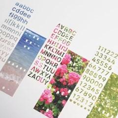 [본쥬흐네] 감성 사진 알파벳 & 숫자 스티커