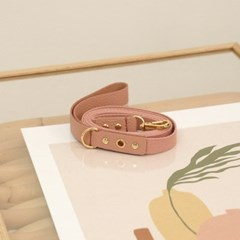 Running Mate Leather&Webbing Lead_Rose Pink