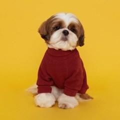 플로트 터틀넥니트 강아지옷 버건디