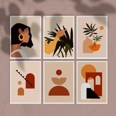 카밀레 엽서 6개세트 / 미니 포스터 작품 액자,달력과 데코