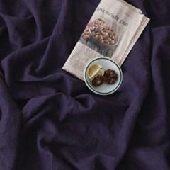 [Fabric] 백마포 로얄 바이올렛 100% 퓨어린넨 캔버스