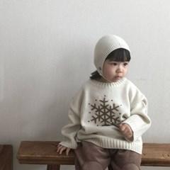 랄) 눈꽃 아동 니트티