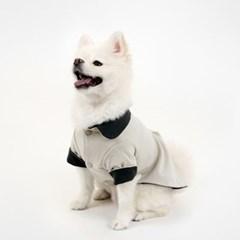[퍼리굿] 강아지옷 양면 코튼 셔츠 (베이지 & 딥그레이)