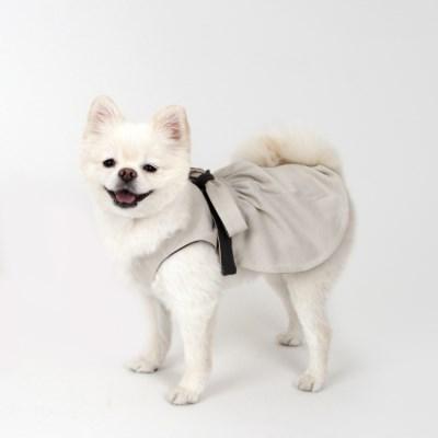 [퍼리굿] 강아지옷 양면 코튼 원피스 (베이지&딥그레이)