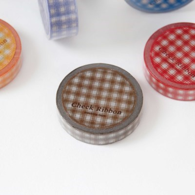 Check Ribbon Masking Tape [Brownie]