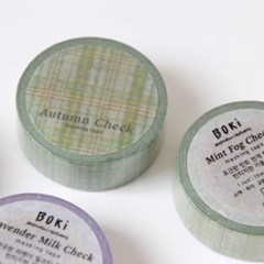Autumn Check Masking Tape [Mint Fog]