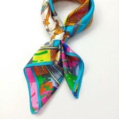 실크 짤은 트윌리 가방 데일리 엄마 중년 패션 스카프
