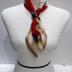 실크 방울 와인 베이지 중년 엄마선물 패션 스카프