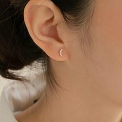 14k gold CZ crescent piercing (14k 골드) (바두께1mm)