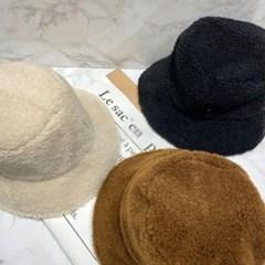뽀글이 양모 벙거지 버킷햇 헤어캡 대두 패션 모자