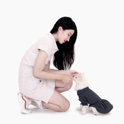 [퍼리굿] 여성용 카라원피스 패밀리룩 커플룩 시밀러룩