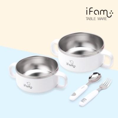아이팜 이지두잉 유아 밥그릇+국그릇+스푼포크 3종 세트