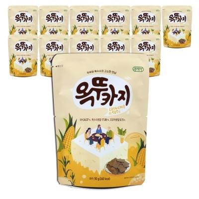 쿠키아 더 옥뚜카지 뚜부 옥수수 두부과자_50g,12개입