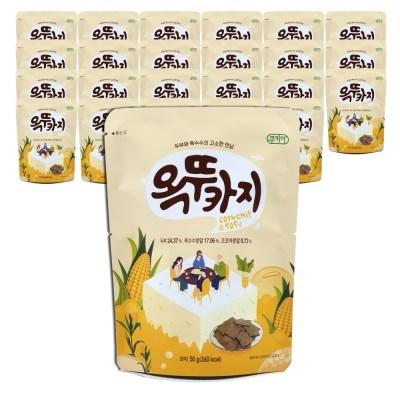 쿠키아 더 옥뚜카지 뚜부 옥수수 두부과자_50g,24개입